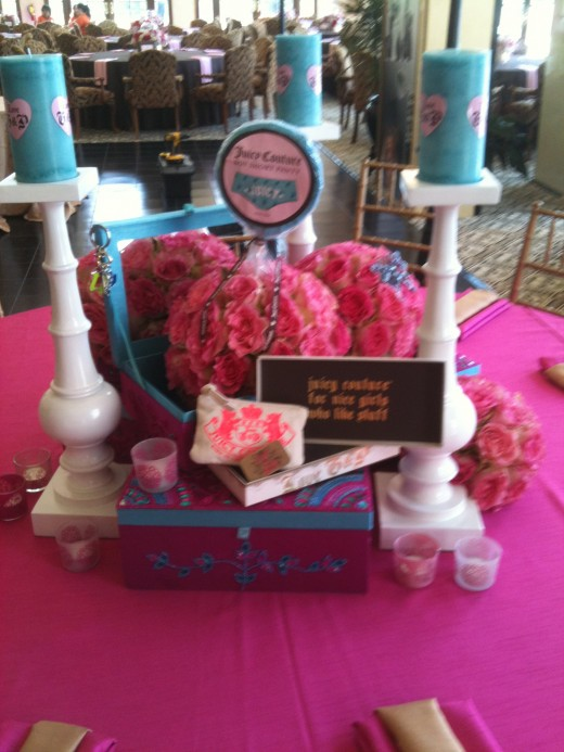 Tall centerpieces Bright Fun Dramatic centerpieces