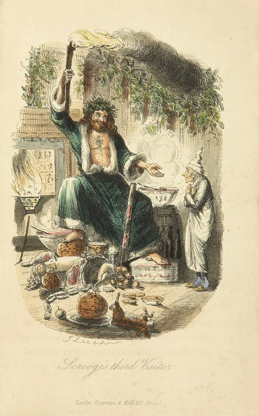 Scrooge's third visitor, from Charles Dickens: A Christmas Carol