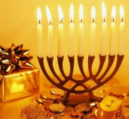 Hanukkah Candles. The festival is observed by lighting one candle of the ...