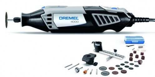 The Dremel 4000 with the smaller number of attachments