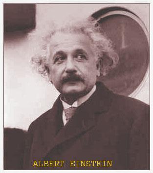 Follow this man Einstein