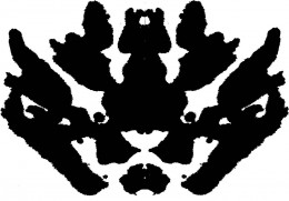 What do you see in this pattern. For the sake of the text, this is the tiger blot.
