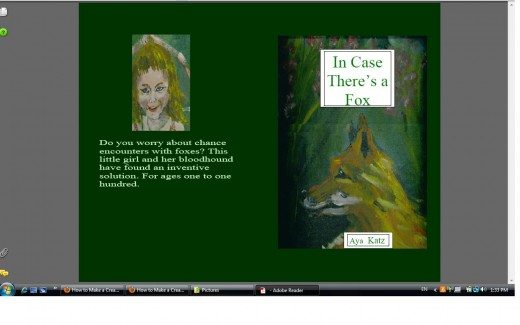 This is what my pdf file for the ultimate cover looked liked in my Adobe reader as a pdf file
