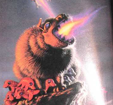 National Geographic rendition of a fire breathing, methane respirating, monster bear, as might be found on Saturn's liquid methane covered moon, Titan.