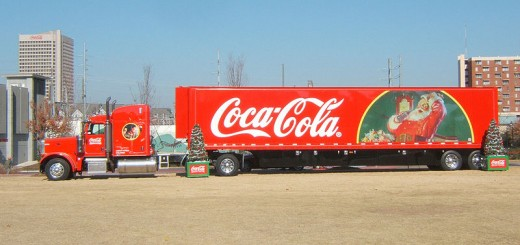A big Coca Cola Christmas Truck.  I wish I had a picture of the Van that came around.