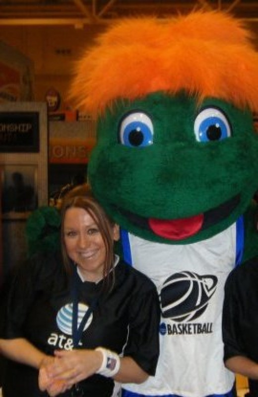 That's me, Missy Nolan, working a fun event as a promo girl.
