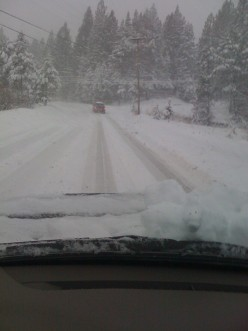 South Lake Tahoe in Winter:  Buy tire chains for your car and drive on up to South Lake!