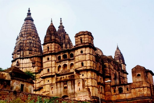 The massive pinnacles of the Chaturvuja temple soaring to the heaven