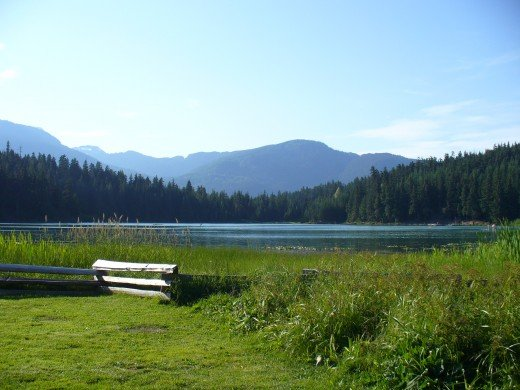 One of the beautiful lakes in Whistler