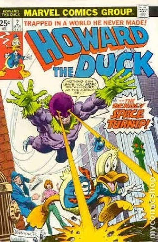 Howard the Duck must use all his wits to defeat the Deadly Space Turnip
