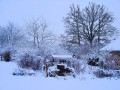 Walking in France: Videix in the Snow