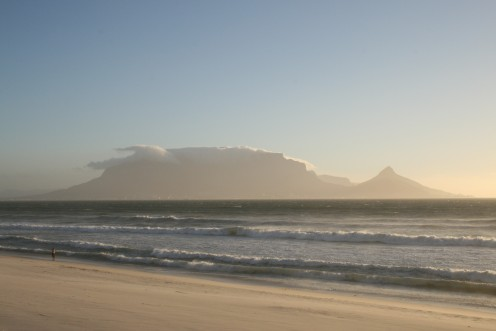 Table Mountain from Blaauwberg Strand. Photo by Tony McGregor December 2008