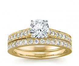 Beautiful yellow gold engagement ring