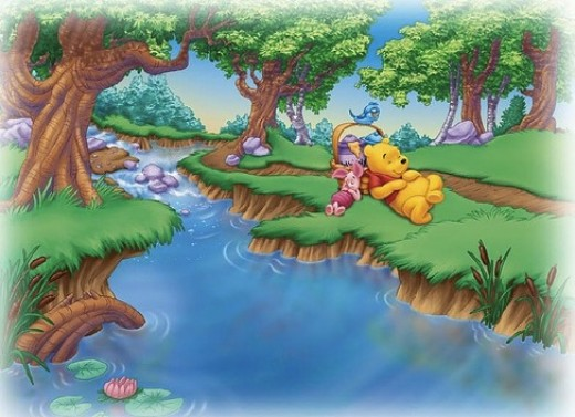 Winnie The Pooh Wallpaper For Nursery. Wallpaper was very popular in