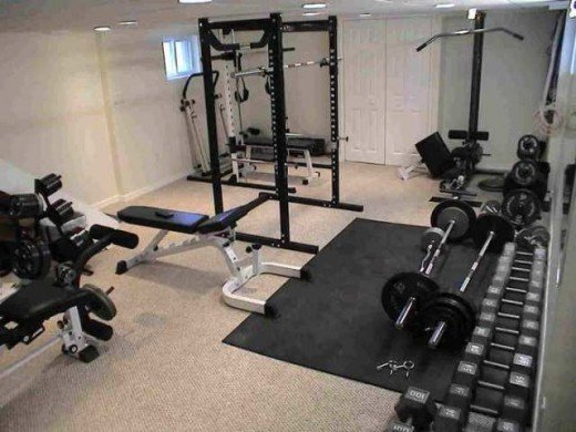 A great home gym set-up