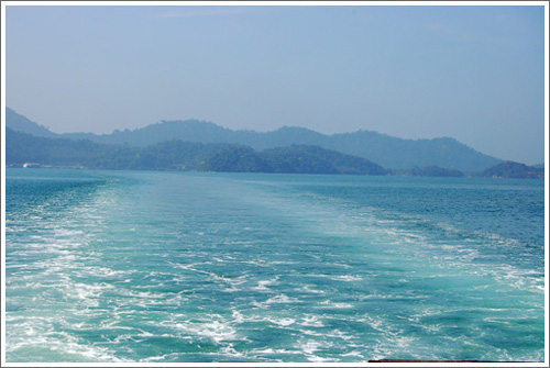 Looking back at Koh Chang from the ferry