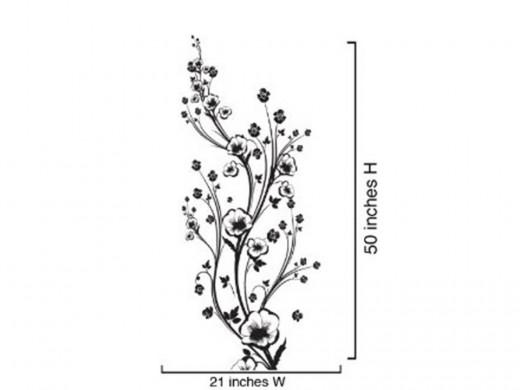"Vinyl Wall Art Decal Sticker Flower Set1 Floral Design 50"" by Stickerbrand"
