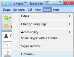 Diagram 1.  Accessing Skype configuration tools