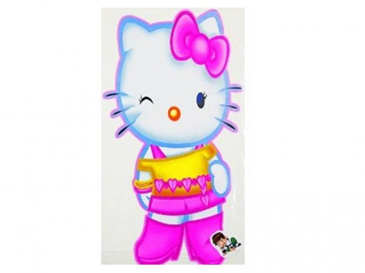 Hello Kitty Wall Decal Magic Sticker