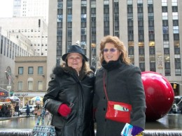 Me an my Mom enjoying a Sunday afternoon in NYC at Christmas Time.