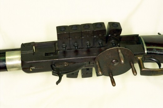 "Bennet & Haviland ""chain gun"" rifle made by N. Kendall & Co. in 1838."