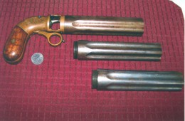 An original pistol made by the Leonard Pistol Manufacturing Co. of Shrewsbury, MA