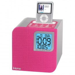 Pink iHome IH12P alarm clock