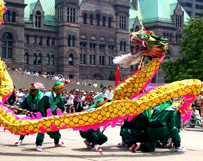 Lion Dance in front of Toronto City Hall