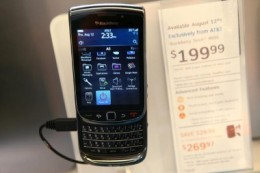 The BlackBerry torch is one of the best touch phones.