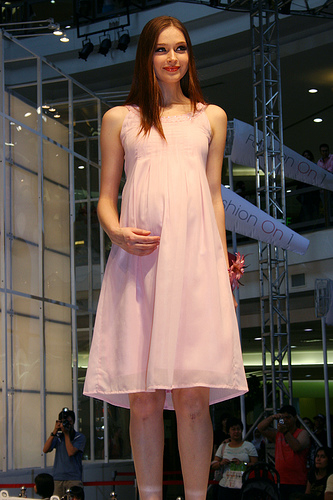 Pregnant model.