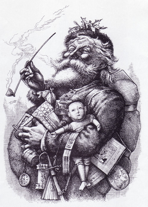 The tradition of Santa Claus is a mixture of ancient customs and newer Christian customs.