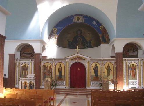 Hellenic College and Holy Cross Greek Orthodox School of Theology. One of many displays of arts and culture in Brookline MA.