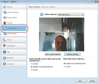 Diagram 9. Setting up your webcam