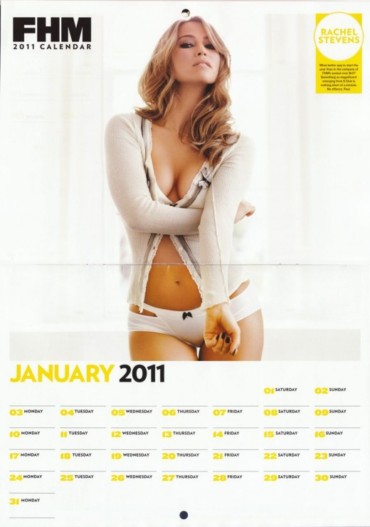 Source: FHM 2011 Calender Girls. Rachel Stevens ( January FHM 2011 Calender