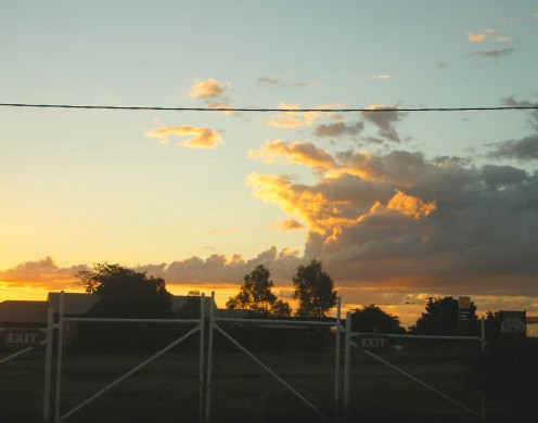 Sunset in Camooweal - 12 hours and 300kms after sunrise in Cloncurry.