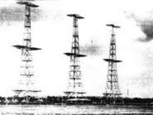 Radar masts in World War Two
