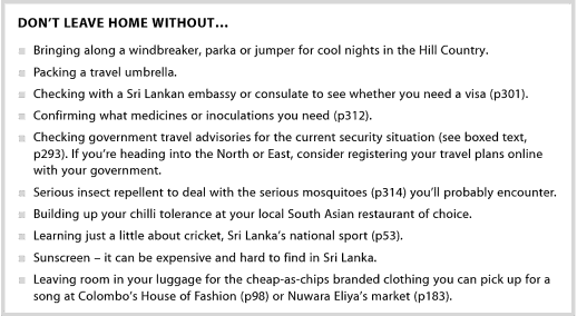 Sri Lankan travel guide by Lonely Planet