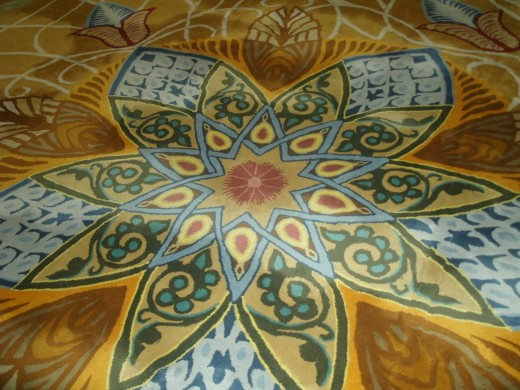 Only a small detail of the magnificent carpet