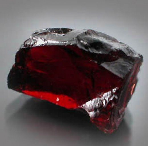 Uncut garnet crystal from independentjewellers.net