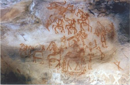Cave Painting at Bhimbetka, India