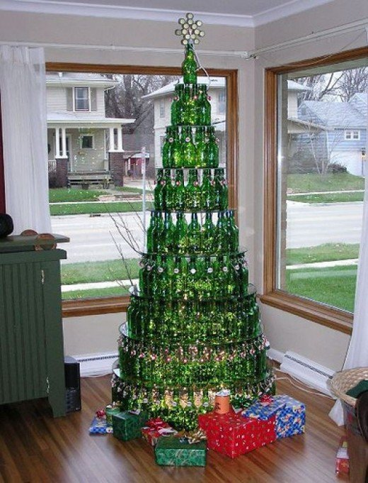 Beautiful Beer Bottle Christmas Tree by Yummies 4 Tummies, on Flickr