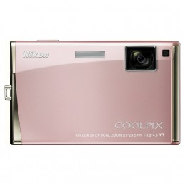 The Nikon CoolPix S60 in Champagne pink. (Photo from Amazon)