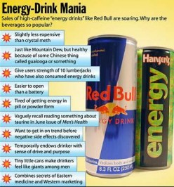 """Sales of high-caffeine  """"energy drinks """" like Red Bull are..."""