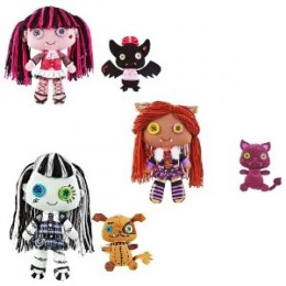 Monster High Set of 3 Deluxe 10 Inch Plush Doll Figures