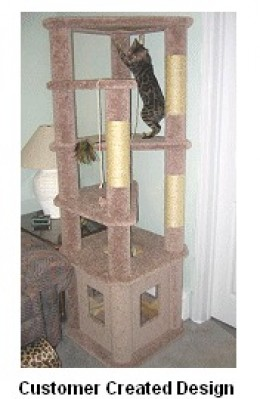 Plans to build homemade cat tree plans pdf plans for Cat climber plans