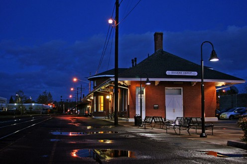 Southern Pacific Railroad Depot in Eugene.