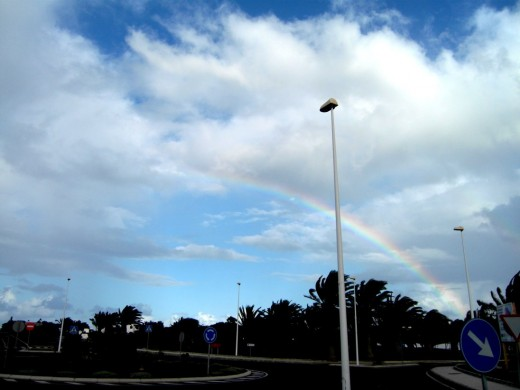 Rainbow over Canaries 2