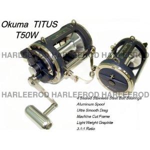 Okuma TITUS T 50W Offshore Tuna Shark Fishing Reel NEW