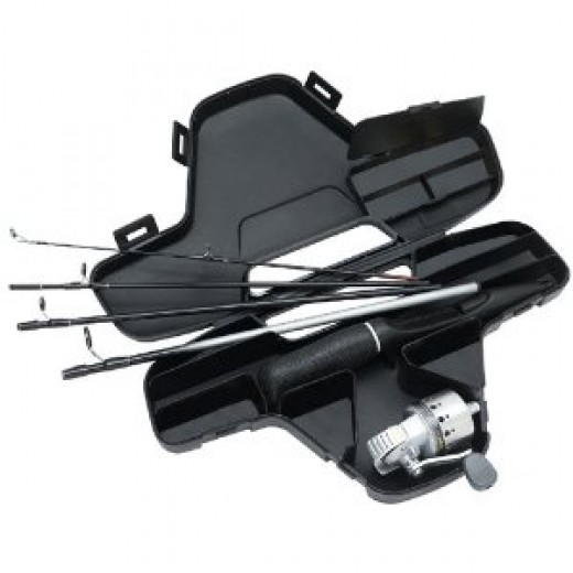 Daiwa Minisystem Minicast Ultra-Compact Spincast Reel and Rod Combo in Hard Carry Case
