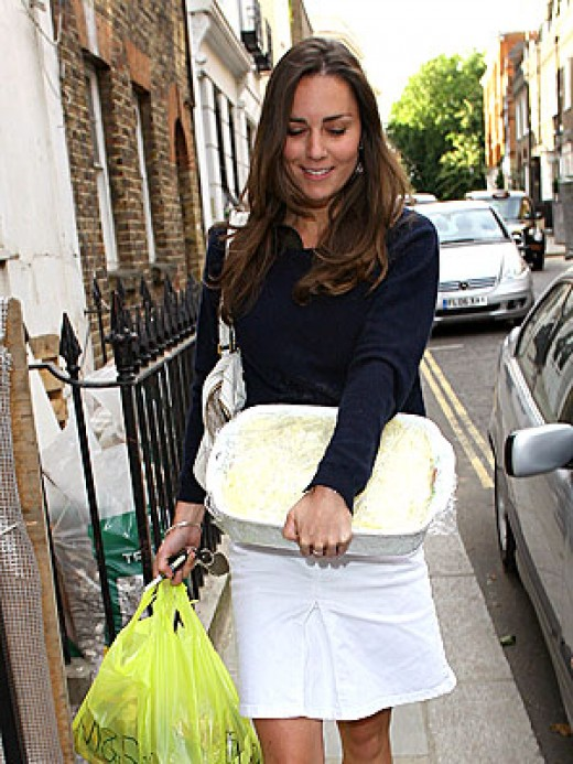 Probably the last time you'll ever see Kate Middleton with a plastic bag.